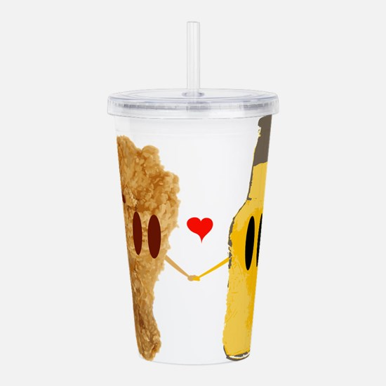 Chicken and beer Acrylic Double-wall Tumbler