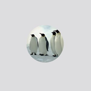 Lined up Emperor Penguins Mini Button