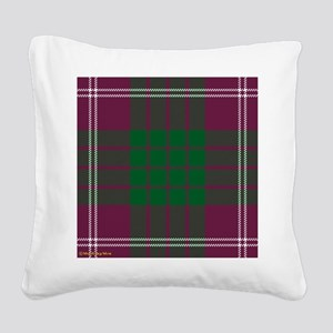 Crawford Clan Square Canvas Pillow