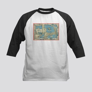 Vintage Map of Cape Cod (1945) Baseball Jersey