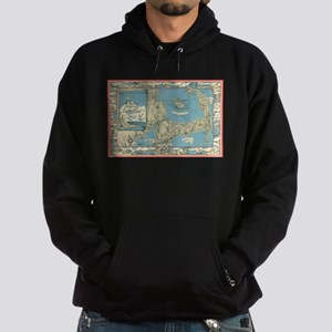 Vintage Map of Cape Cod (1945) Hoodie (dark)