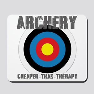 Archery, Cheaper Than Therapy Mousepad