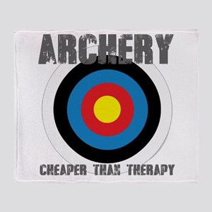 Archery, Cheaper Than Therapy Throw Blanket