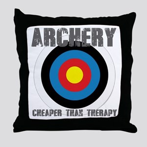 Archery, Cheaper Than Therapy Throw Pillow