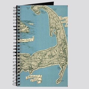 Vintage Map of Cape Cod (1945) Journal
