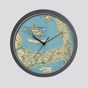 Vintage Map of Cape Cod (1945) Wall Clock