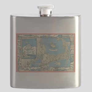 Vintage Map of Cape Cod (1945) Flask