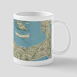 Vintage Map of Cape Cod (1945) Mugs