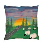 sunset wall Everyday Pillow