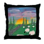 sunset wall Throw Pillow