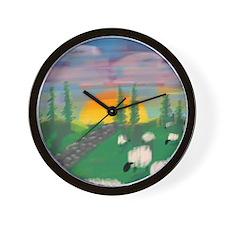 sunset wall Wall Clock