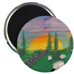 sunset wall Magnets