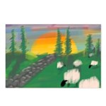 sunset wall Postcards (Package of 8)