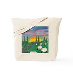 sunset wall Tote Bag
