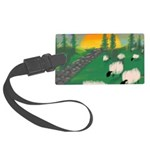 sunset wall Luggage Tag