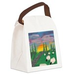 sunset wall Canvas Lunch Bag