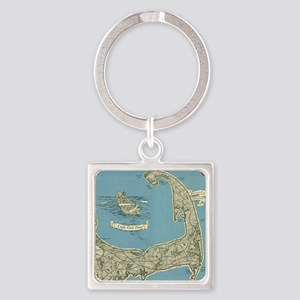 Vintage Map of Cape Cod (1945) Keychains