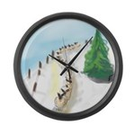 Coming In Large Wall Clock