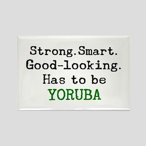 be yoruba Rectangle Magnet