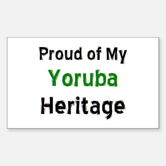 yoruba heritage Sticker (Rectangle)