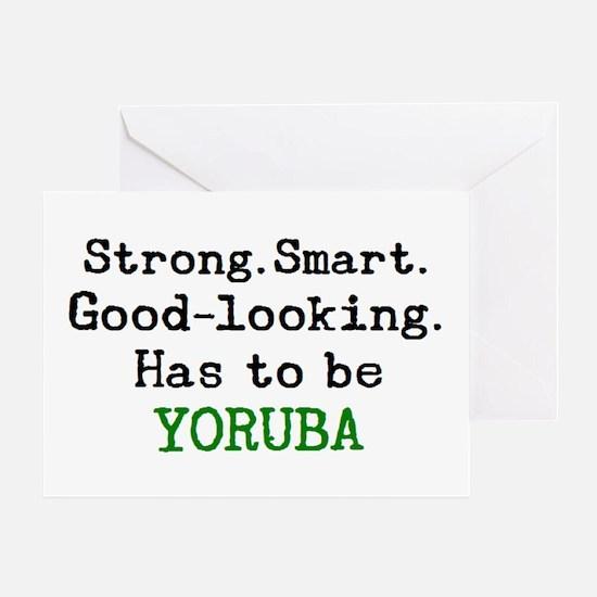 be yoruba Greeting Card