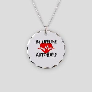 My Lifeline Autoharp Necklace Circle Charm