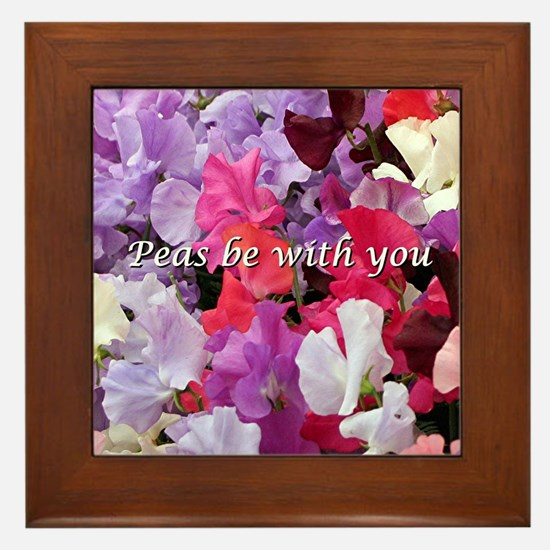 Peas be with you sweet peas Framed Tile