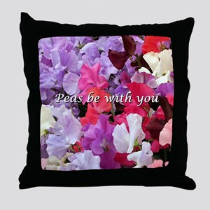 Peas be with you sweet peas Throw Pillow