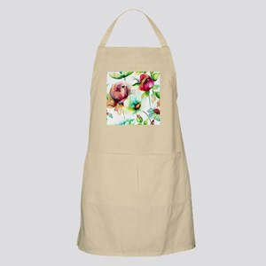 Colorful Watercolors Flowers Pattern Apron