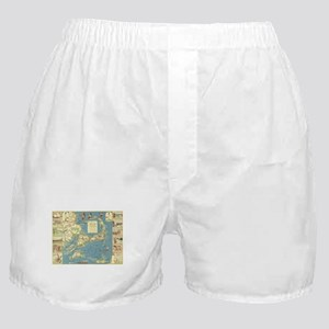 Vintage Cape Cod Map (1940) Boxer Shorts