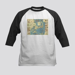 Vintage Cape Cod Map (1940) Baseball Jersey