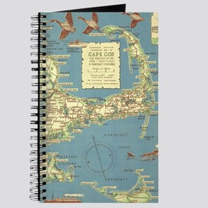 Vintage Cape Cod Map (1940) Journal