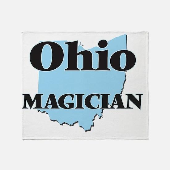 Ohio Magician Throw Blanket