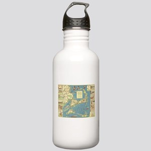 Vintage Cape Cod Map ( Stainless Water Bottle 1.0L