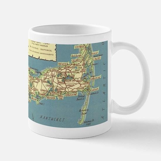 Vintage Cape Cod Map (1940) Mugs