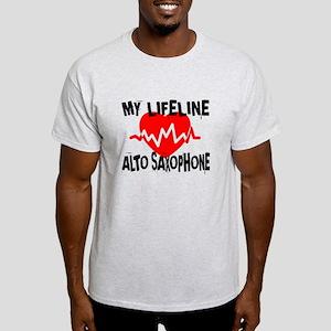 My Lifeline Alto Saxophone Light T-Shirt