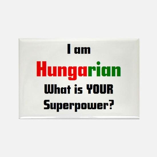 i am hungarian Rectangle Magnet