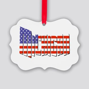 Patriotic Michigan Ornament