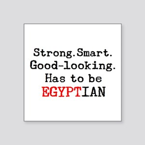 """be egyptian Square Sticker 3"""" x 3"""""""