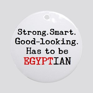 be egyptian Round Ornament