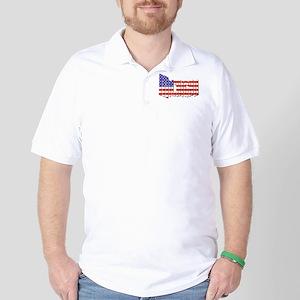 Patriotic Michigan Golf Shirt