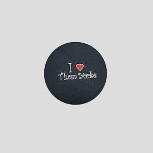 I Love Thom Yorke Mini Button