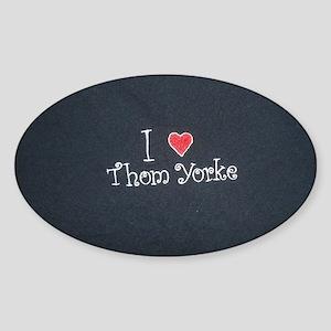 I Love Thom Yorke Sticker (Oval)