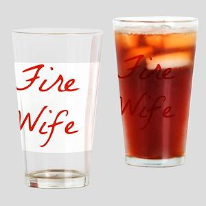 Fire Wife Drinking Glass