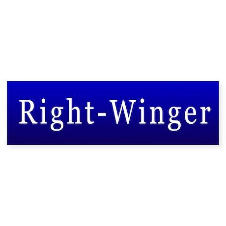 Right-Winger Bumper Sticker