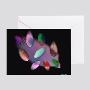 Feather Play Greeting Card