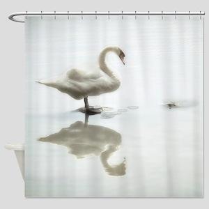 Swan & Turtle Shower Curtain