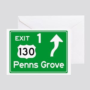 NJTP Logo-free Exit 1 Penns Grove Greeting Card