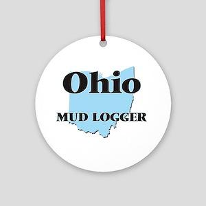 Ohio Mud Logger Round Ornament