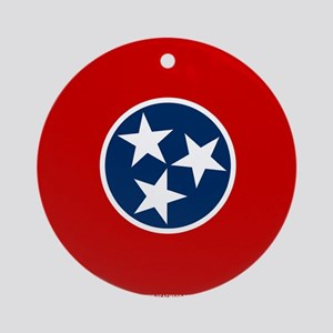 Tennessee State Flag Round Ornament